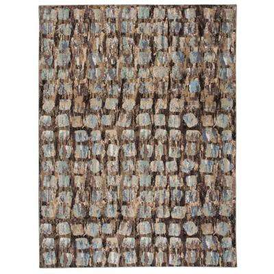 Modesto Squares Beige 7 ft. 10 in. x 10 ft. 6 in. Area Rug
