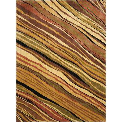 Parallels Multicolor 5 ft. 6 in. x 7 ft. 5 in. Area Rug
