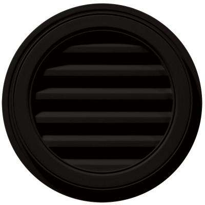 18 in. Round Gable Vent in Black