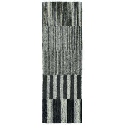 Alzada Charcoal 2 ft. 6 in. x 8 ft. Runner Rug