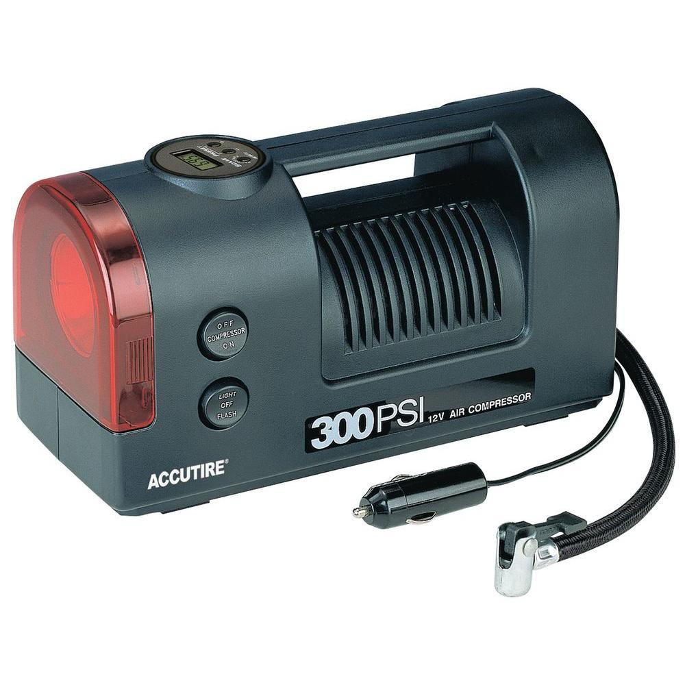 Accutire Digital 300 psi 12-Volt Air Compressor with Light