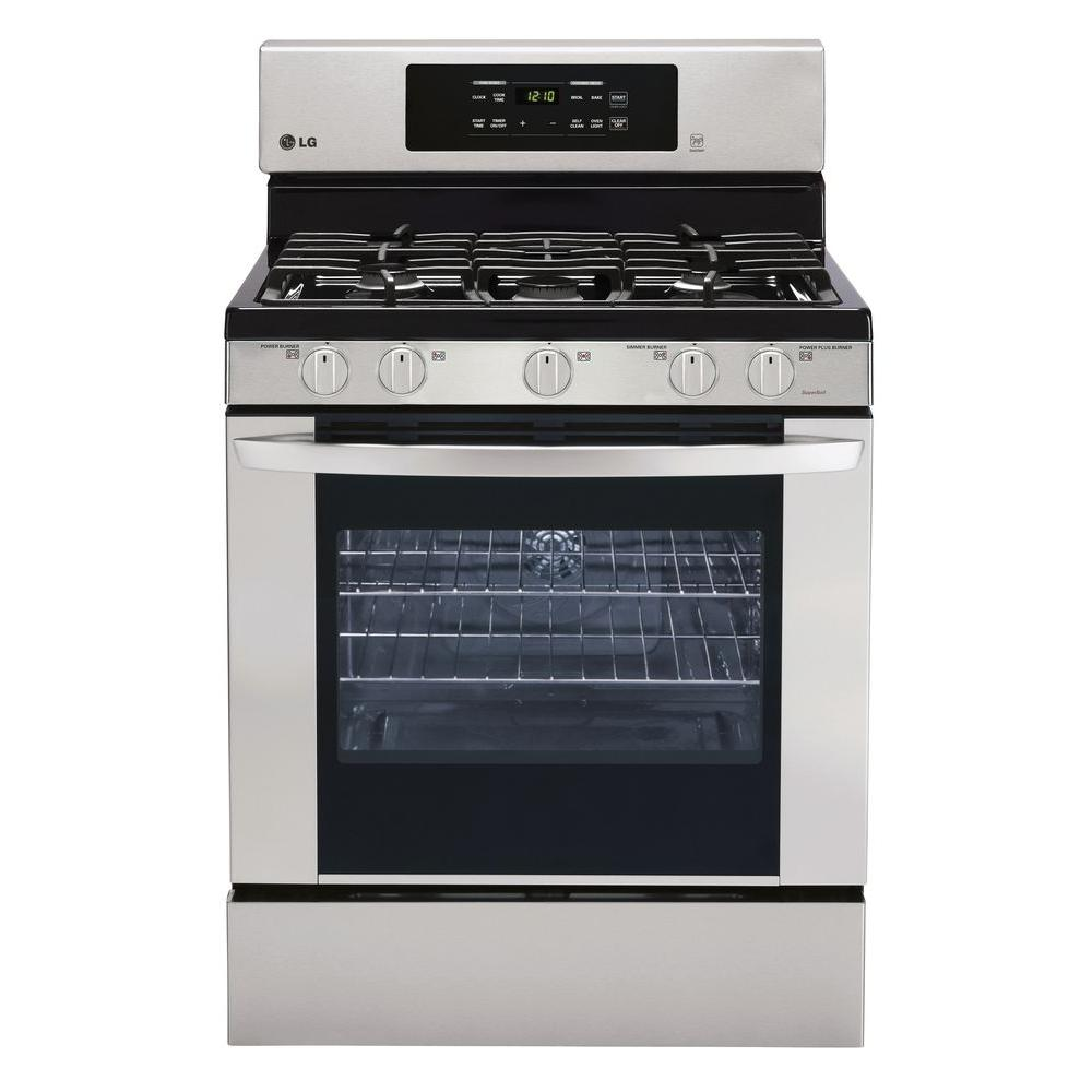 LG Electronics 5.4 cu. ft. Gas Range with Self-Cleaning Convection Oven in Stainless Steel