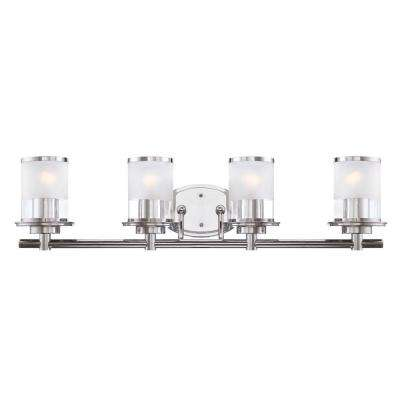 Essence 4-Light Chrome Interior Incandescent Bath Vanity Light