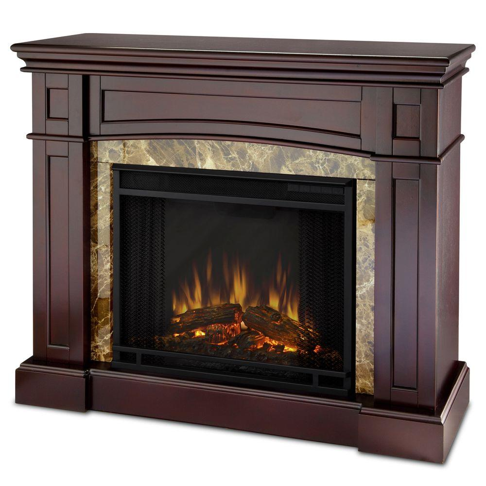 Real Flame Bentley 40 in. Electric Fireplace in Espresso-DISCONTINUED