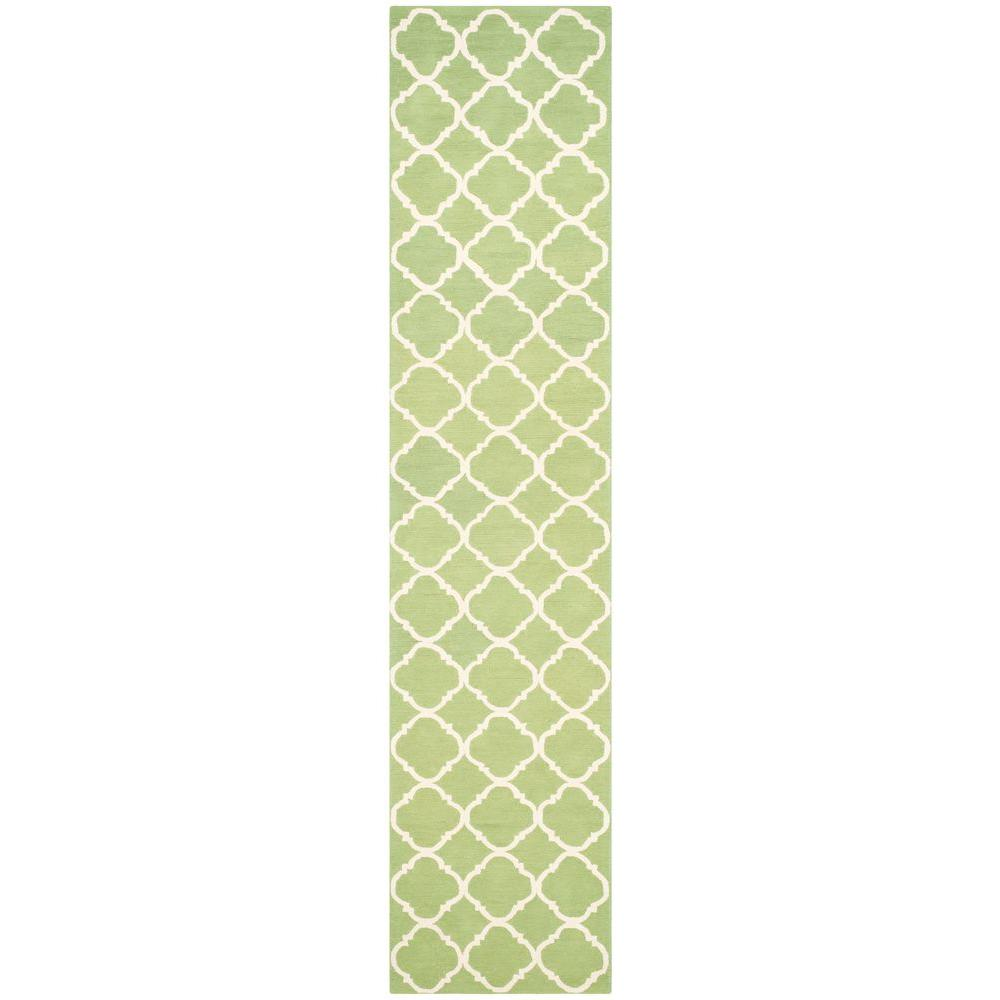 Safavieh Newport Green/Ivory 2 ft. x 10 ft. Runner Rug