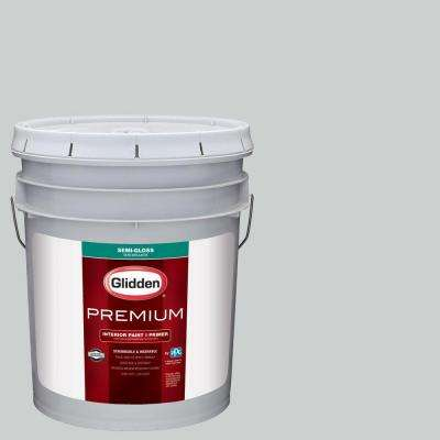 5 gal. #HDGCN36 Silvery Moonlight Semi-Gloss Interior Paint with Primer