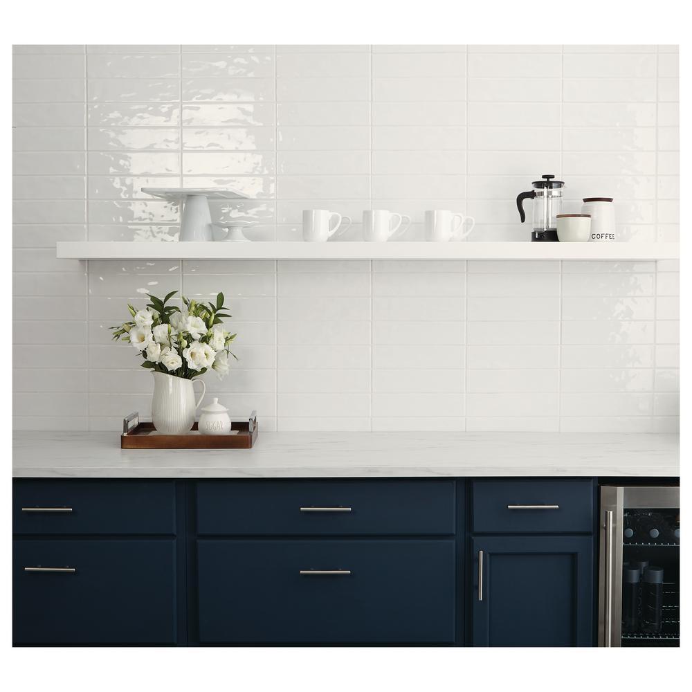 - Marazzi LuxeCraft White 3 In. X 12 In. Glazed Ceramic Subway Wall