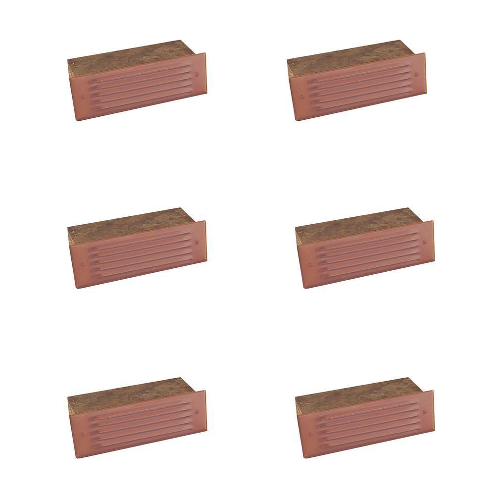 1-Light Matte Bronze Outdoor Deck Light (6-Pack)