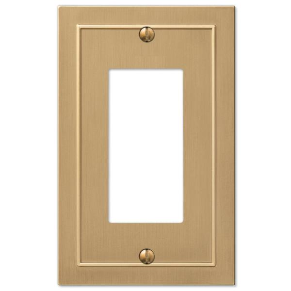 Bethany 1 Gang Rocker Metal Wall Plate - Brushed Bronze