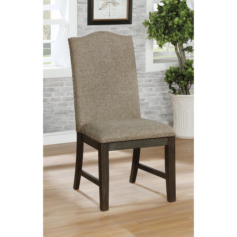 Dorsett Espresso Upholstered Side Chairs (Set of 2)
