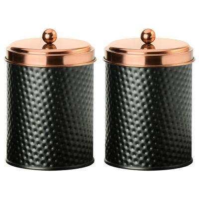 Ashby 38 oz. 2-Piece Metal Storage Canister Set with Copper Lids