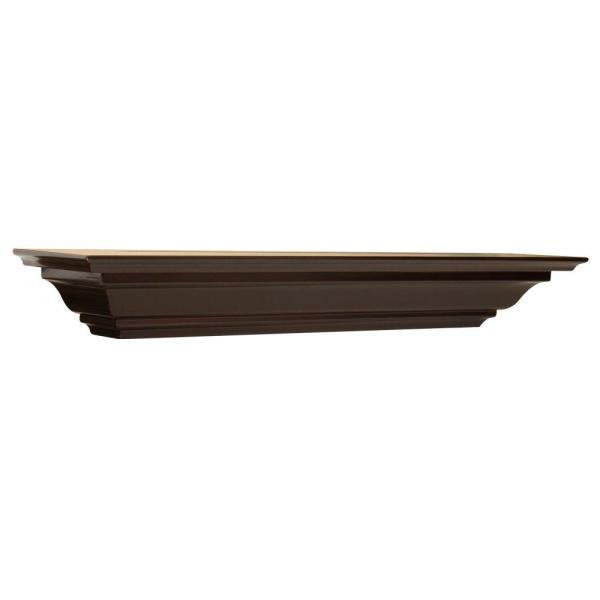 5-1/4 in. Espresso Crown Moulding Shelf (Price Varies By Length)