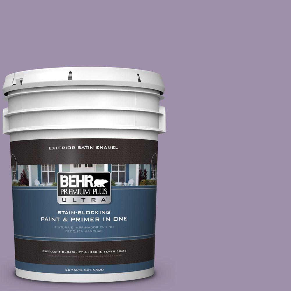 BEHR Premium Plus Ultra 5-gal. #S100-4 Ancestry Violet Satin Enamel Exterior Paint