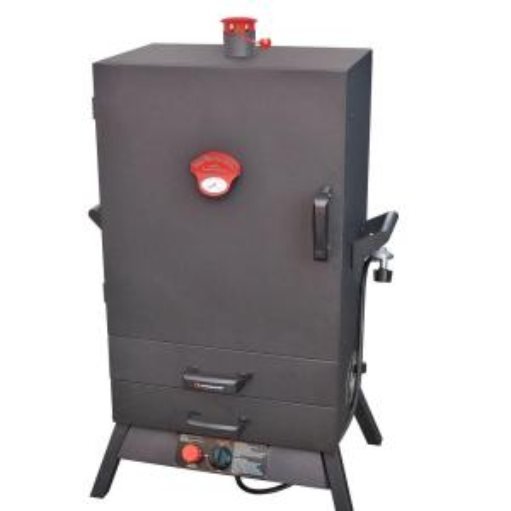 Smoky Mountain 38 inch Vertical Wide Chamber Propane Gas Smoker 2 Drawer Access by Smoky Mountain
