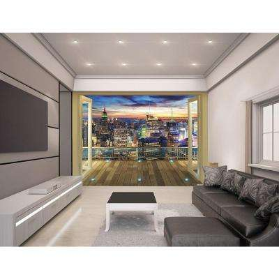 120 in. H x 96 in. W New York City Skyline Wall Mural