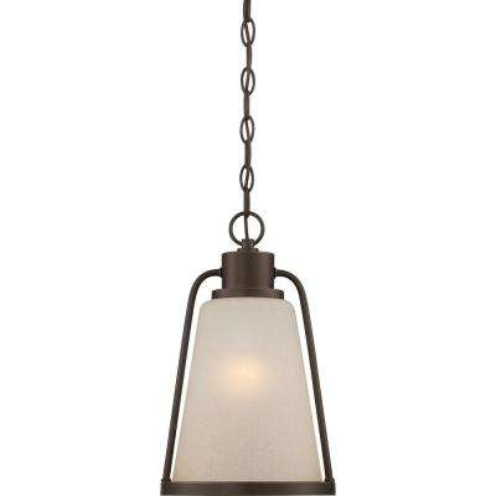 9.8-Watt Mahogany Bronze Integrated LED Outdoor Hanging Lantern