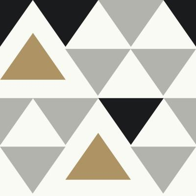 28.18 sq. ft. Geometric Triangle Peel and Stick Wallpaper