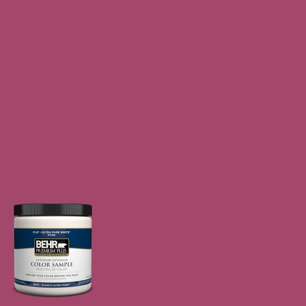 8 oz. #HDC-SM14-1 Fuschia Flair Interior/Exterior Paint Sample