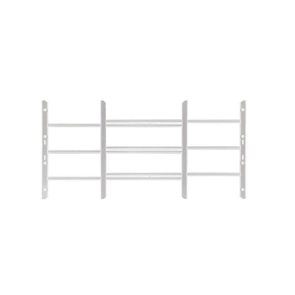 Grisham AWG 22-3/4 in. to 36-1/2 in. Adjustable Width 3-Bar Window Guard, White