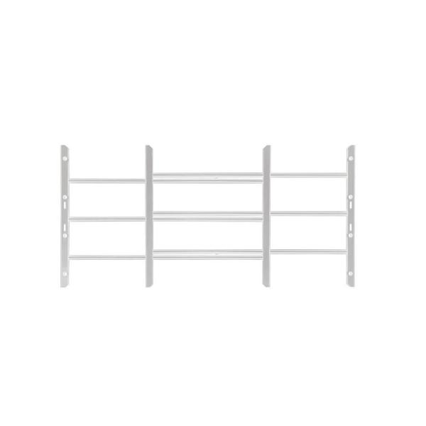 AWG 22-3/4 in. to 36-1/2 in. Adjustable Width 3-Bar Window Guard, White