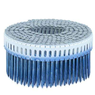 2.5 in. x 0.092 in. 0-Degree Smooth Hot Dip Plastic Sheet Coil Nail 4,000 per Box