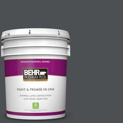 5 gal. #PPU18-01 Cracked Pepper Zero VOC Eggshell Enamel Interior Paint