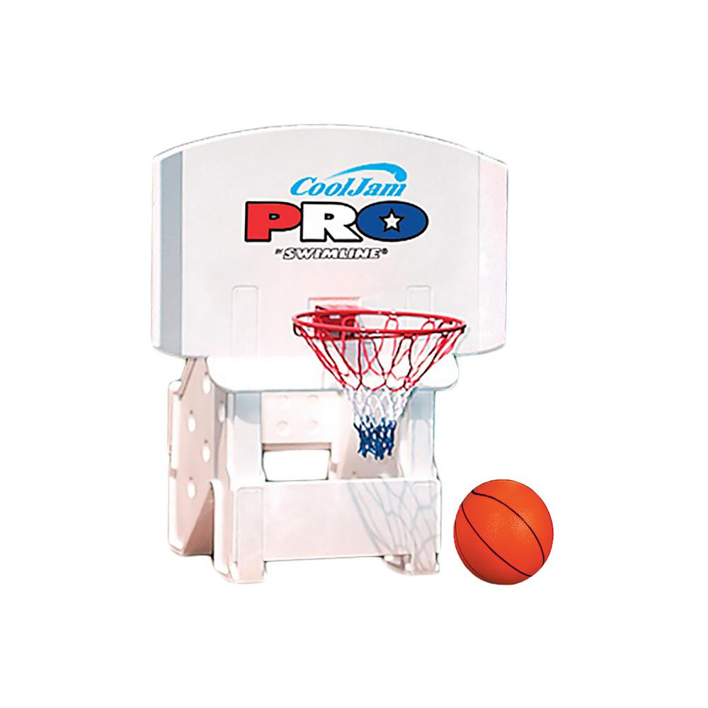 Swimline Cool Jam Pro Poolside Basketball Game for In-Ground Pools