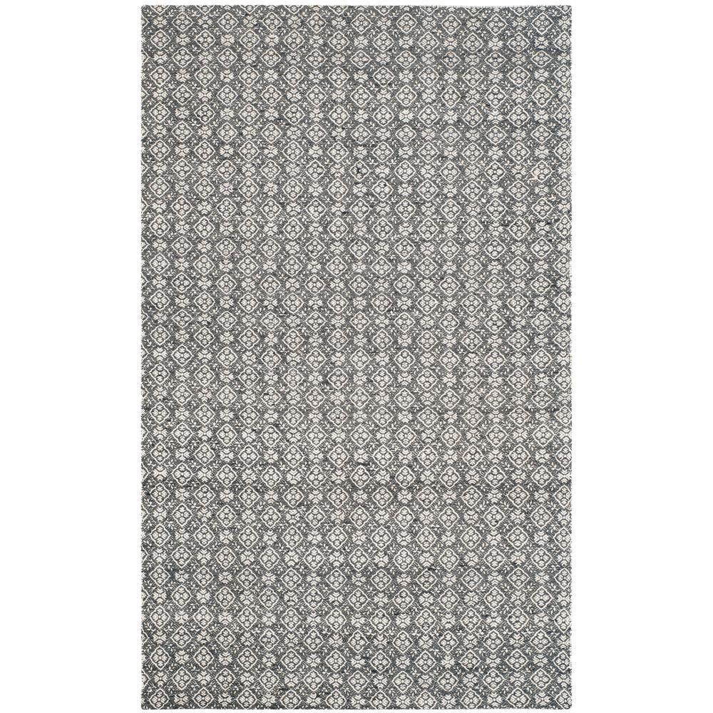 Safavieh Kilim Ivory/Charcoal (Ivory/Grey) 5 ft. x 8 ft. ...