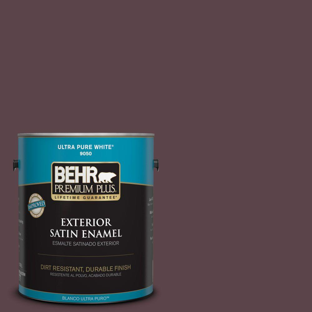 BEHR Premium Plus Home Decorators Collection 1-gal. #hdc-CL-07 Dark Berry Satin Enamel Exterior Paint