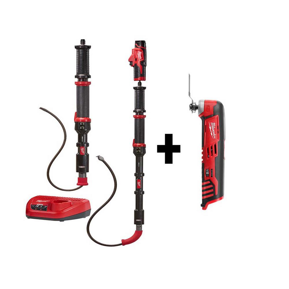 Milwaukee M12 Trap Snake 12-Volt Lithium-Ion Cordless 4 ft. and 6 ft. Auger Drain Cleaning Combo Kit with Free M12 Multi-Tool was $278.0 now $199.0 (28.0% off)