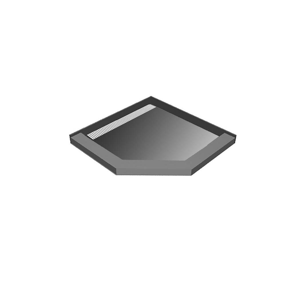 Redi Neo 42 In. X 42 In. Neo-Angle Shower Base With Left