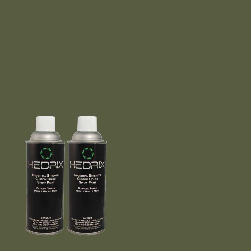 Hedrix 11 oz. Match of B-272 Dark Forest Semi-Gloss Custom Spray Paint (2-Pack)