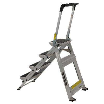 4 ft. Aluminum Step Stool with 300 lbs. Load Capacity Type IA Duty Rating