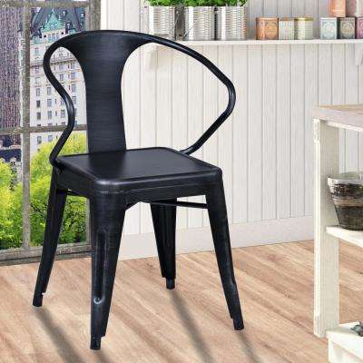 Berkeley 31 in. Industrial Gray Finish Arm Chair (Set of 2)