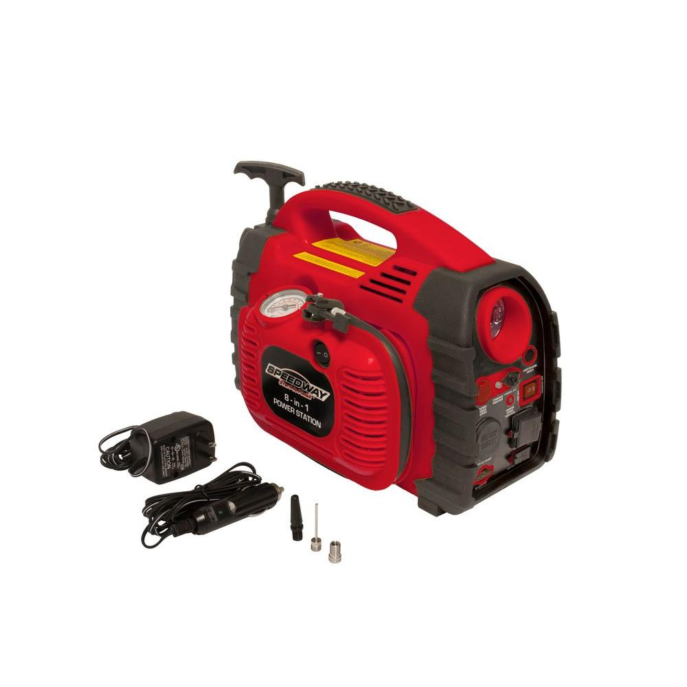 SPEEDWAY 8-in-1 Inflator Power Station with Inflator and Pull Recharge Feature-DISCONTINUED