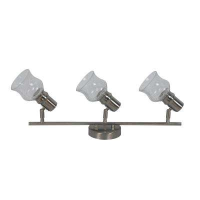 Vieste Collection 1.9 ft. 3-Lights Satin Nickel Track Lighting Kit