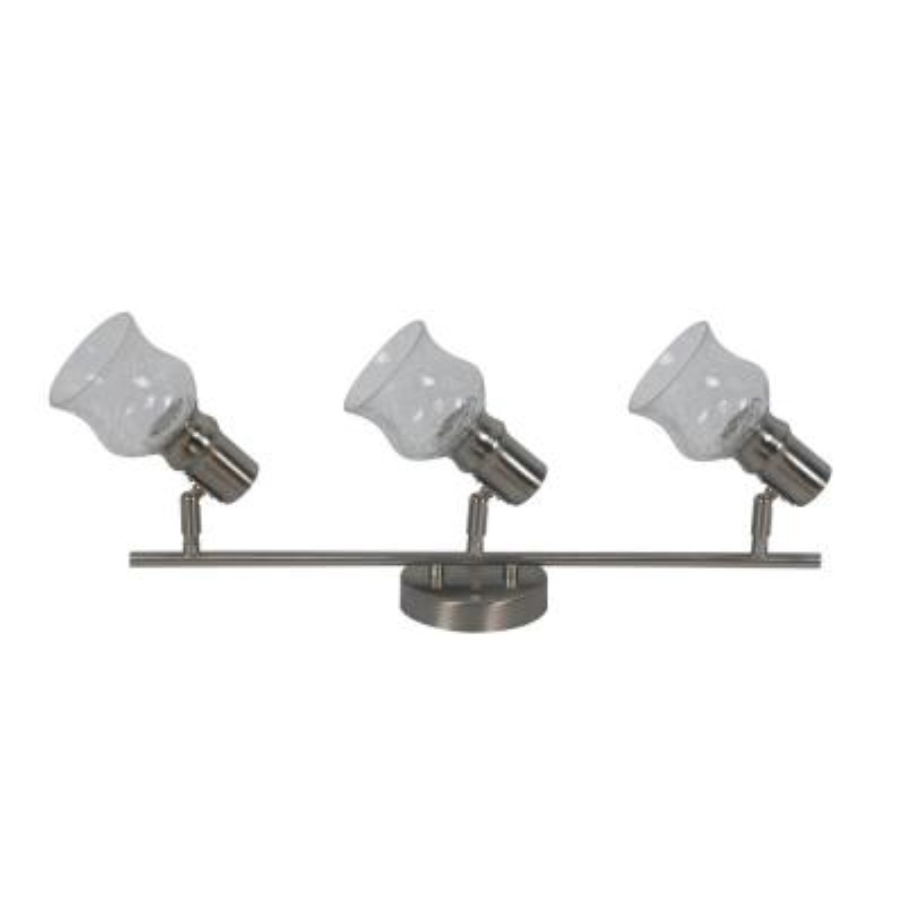 Vieste Collection 1.9 ft. 3-Lights Satin Nickel Track Lighting Kit