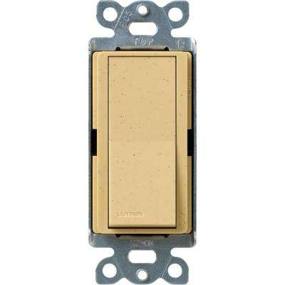 Claro 15 Amp Single-Pole Rocker Switch with Locator Light, Goldstone