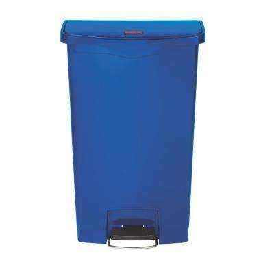 Slim Jim Step-On 18 Gal. Blue Plastic Front Step Trash Can