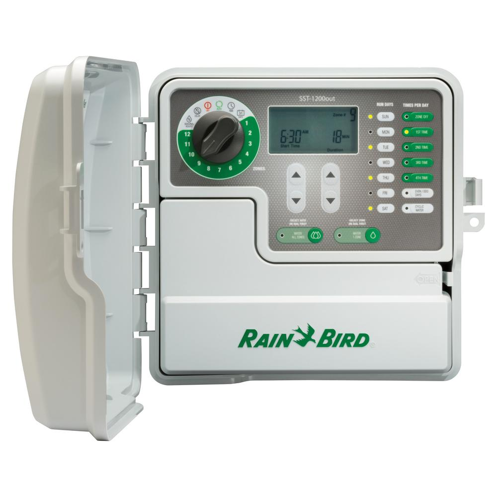 rain bird 12 station indoor outdoor simple to set irrigation timer rh homedepot com