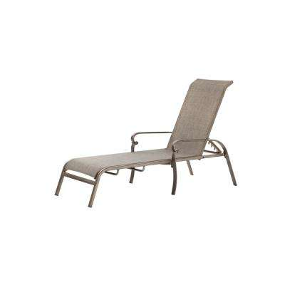 Home Decorators Collection Wilshire Estates Patio  Aluminum 1 Sunbrella  Sling Chaise Lounge  in Gray