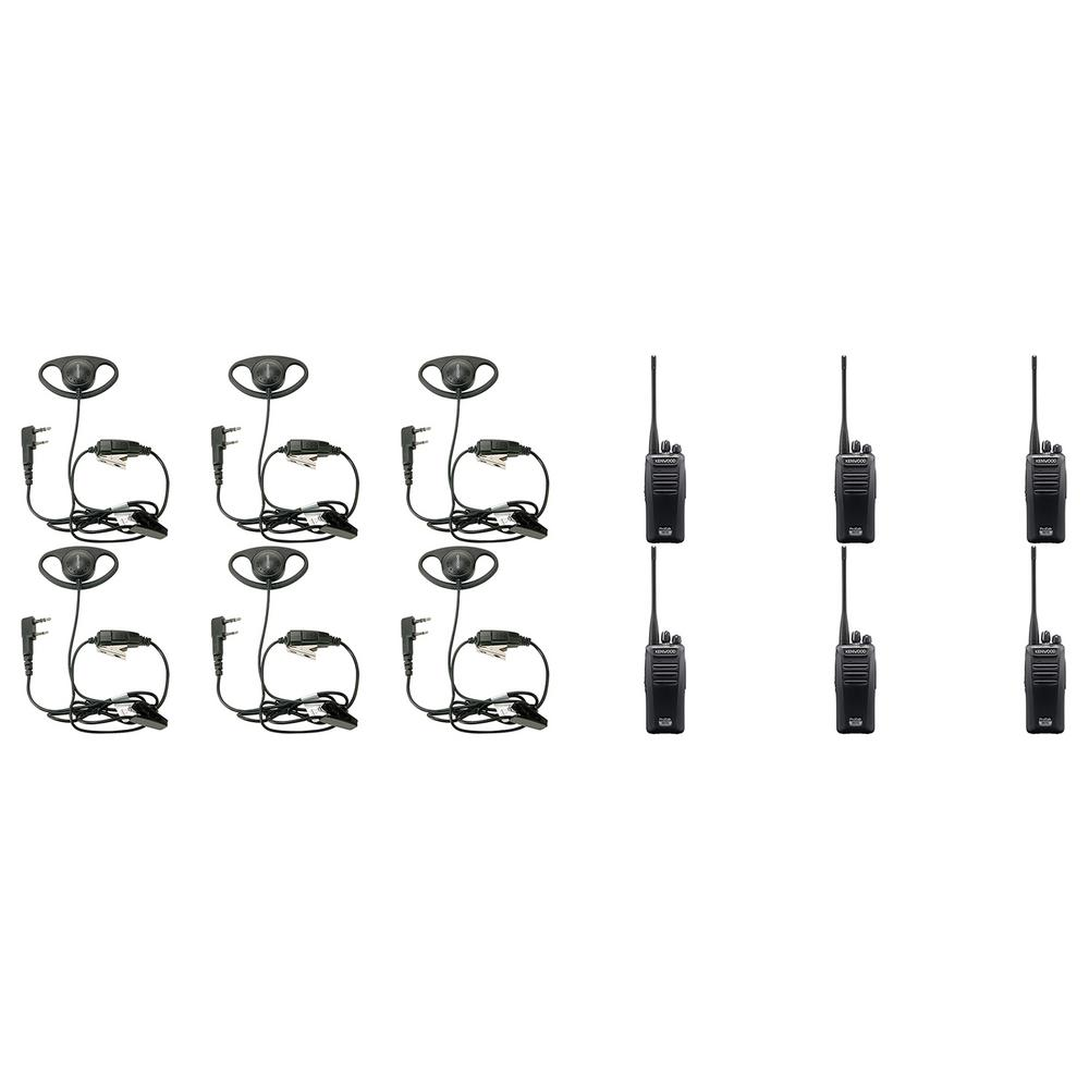 ProTalk Digital UHF 2-Way Business Radio with D-Ring In-Line Push-To-Talk Headset (12-Pack) Check out this bundle from Kenwood. It includes 6 D-Ring In-Line Push-To-Talk Headsets and 6 ProTalk Digital NX-340U16P UHF 2-Way Business Radios. The D-ring ear hanger fits snugly around the ear and allows hands-free use for all ProTalk radios except the PKT23. The NX-340U16P 16 channel portable radio operates in either analog FM or NXDN digital modes, offering a cost-effective way to migrate smoothly from a legacy system. Benefits of advanced digital technology on this ProTalk Digital NX-340U16P include increased effective coverage area as much as 20% over analog, low noise for superior clarity and inherent secured voice. All this comes in a tough, compact radio that is easy to operate, delivers high-powered audio and ensures round-the-clock reliability.