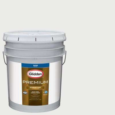 5 gal. #NHL-013H Florida Panthers White Satin Exterior Paint