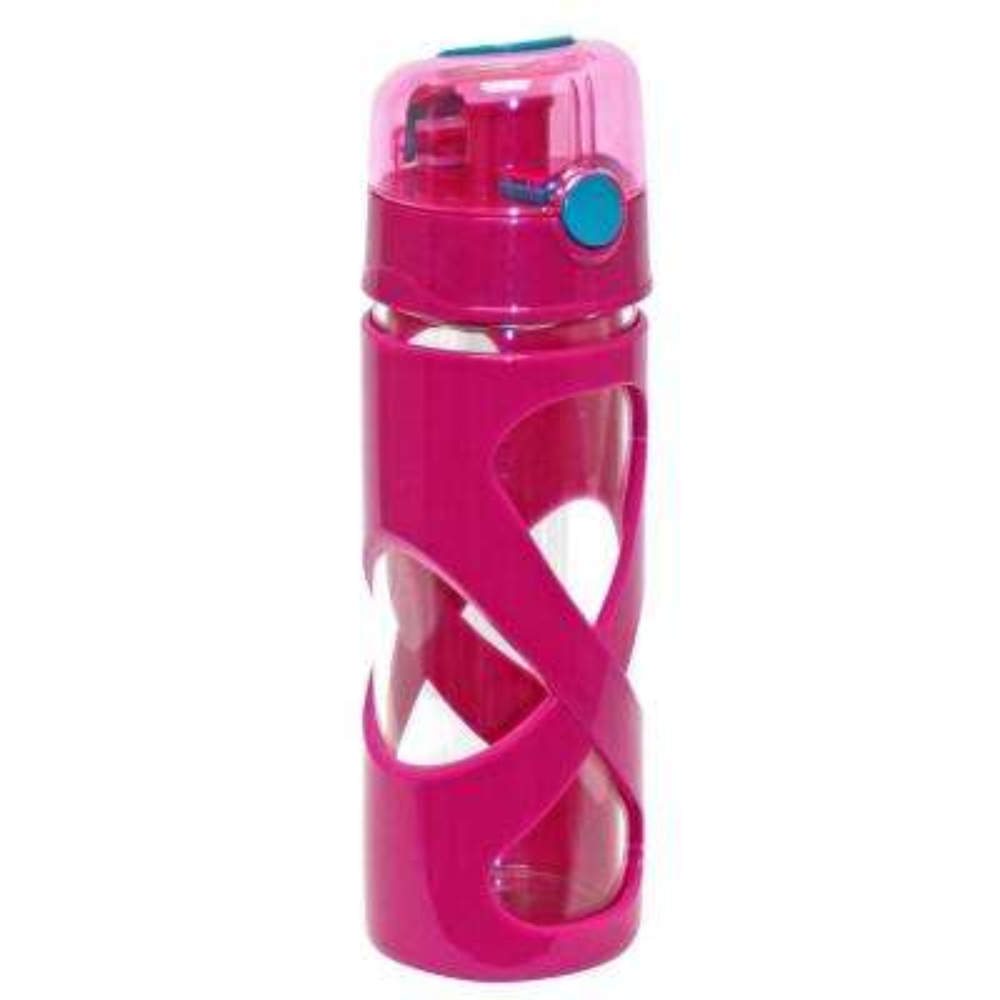 16 oz. Pink Borosilicate Glass Water Bottle (12-Pack)
