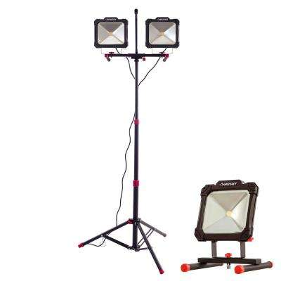 7000 Lumen Twin-Head LED Work Light and 3500 Lumen Portable LED Work Light