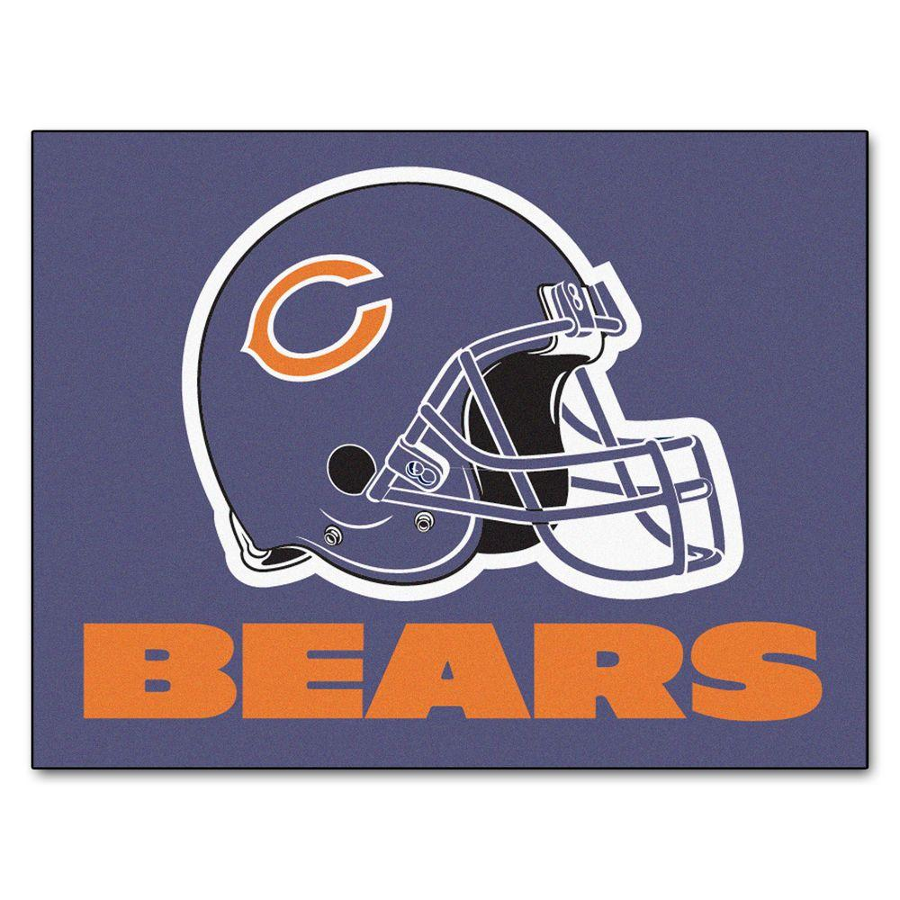 Fanmats Chicago Bears 2 Ft 10 In X 3 Ft 9 In All Star Rug 5709 The Home Depot