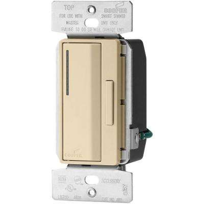 1,000-Watt Multi-Location LED/CFL/INC/HAL/FLR/MLV/ELV Accessory Smart Dimmer, Ivory