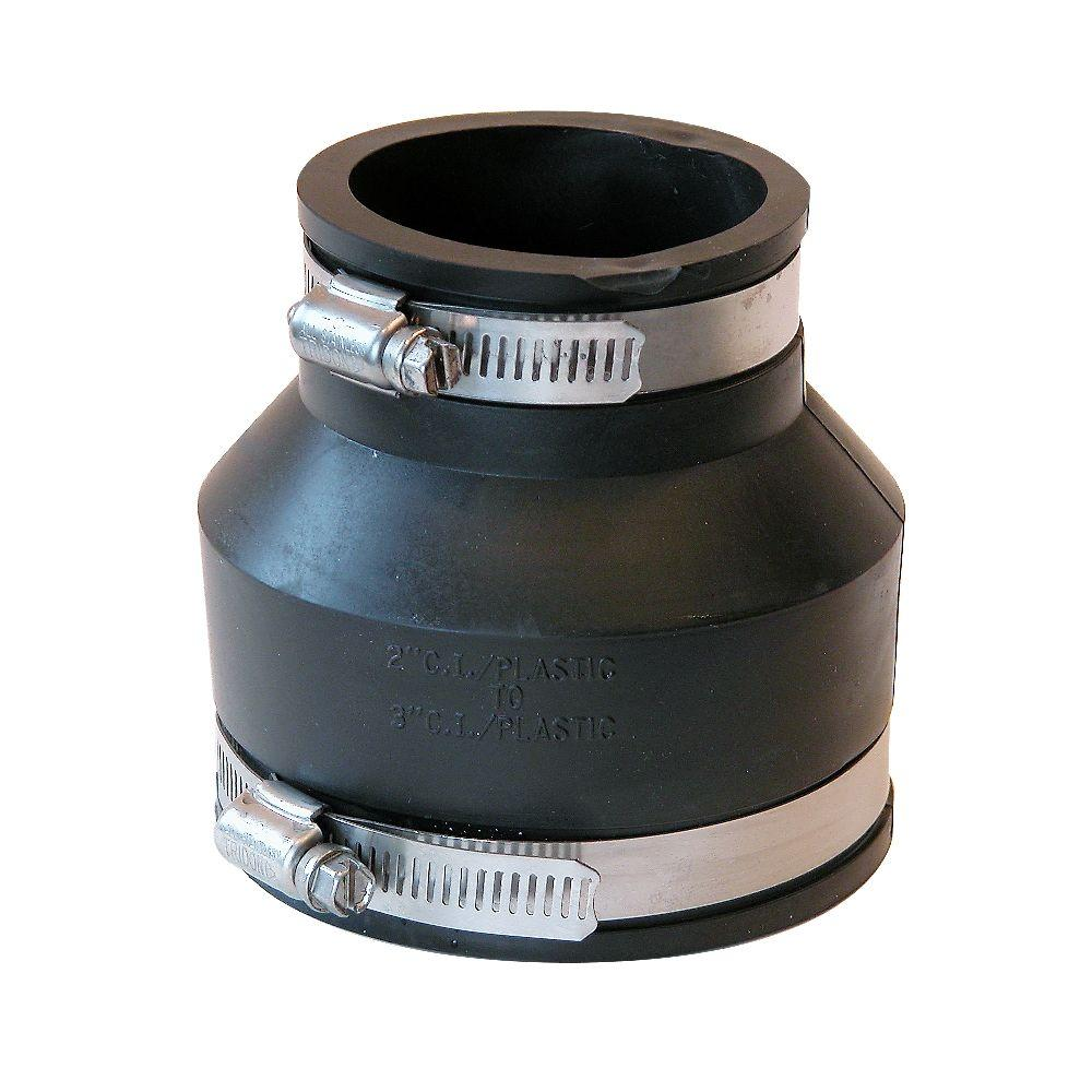 3 in. x 2 in. PVC DWV Mechanical Flexible Coupling