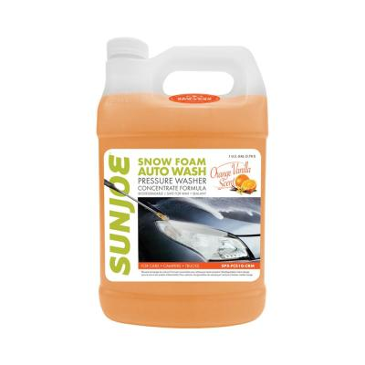 1 Gal. Premium Snow Foam Pressure Washer Rated Car Wash Soap and Cleaner, Orange-Vanilla