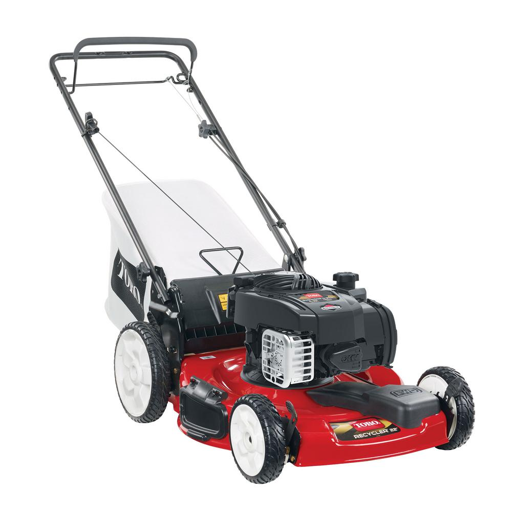Toro Recycler 22 inch Briggs & Stratton High Wheel Variable Speed Gas Walk Behind Self Propelled Lawn Mower with Bagger